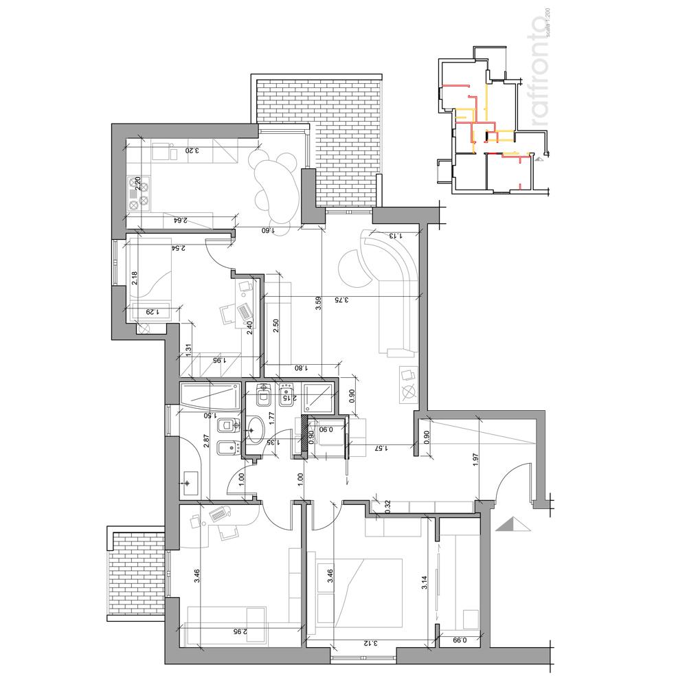 Progetti interni casa progetto in d e foto della casa - Programma per progetti casa ...